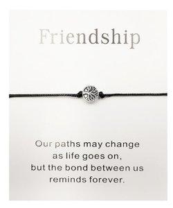 Giftcard met armband friendship - Zwart
