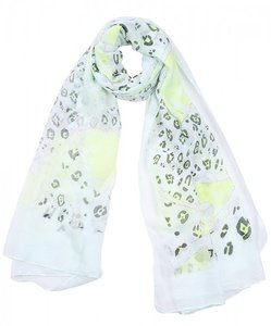 Sjaal luipaard print glitter - Geel