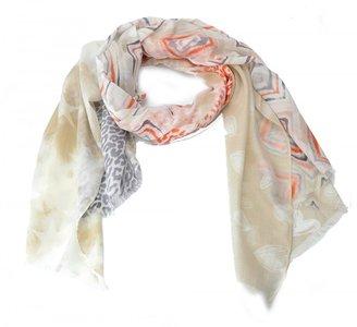 Sjaal aztek-stars-animal motief - Bruin/oranje/beige