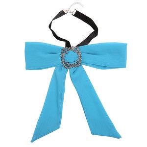 Choker strik sjaal - Blauw