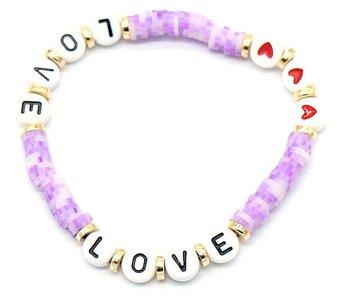 Katsuki armband love - Paars