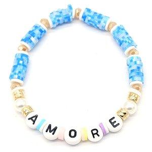 Katsuki armband amore - Blauw
