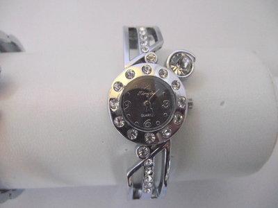 Klemband horloge (zwart)