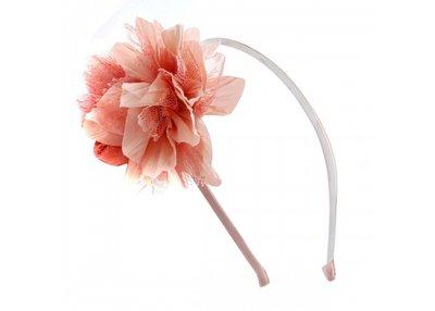 Haarband met bloem roze