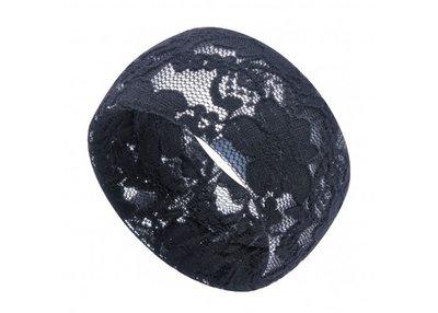 Bangle armband kant - Zwart