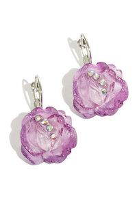 Oorbellen roosjes paars
