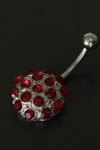 Navel Piercing rond rood
