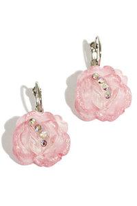 Oorbellen roosjes roze
