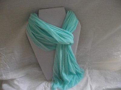 Blauwe glitter shawl