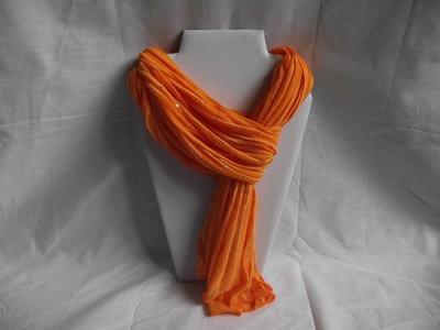 Oranje glitter shawl