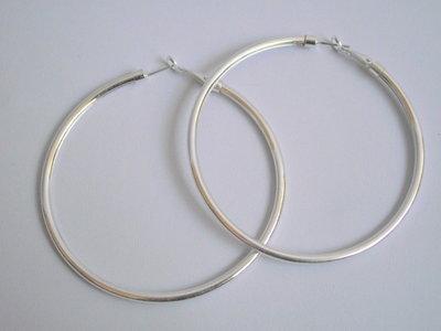 Creolen zilver 7 cm