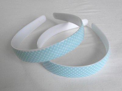Haarband met witte stip - Div kleuren