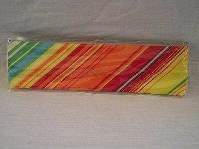 Elastische haarband oranje/rood/geel/blauw/groen