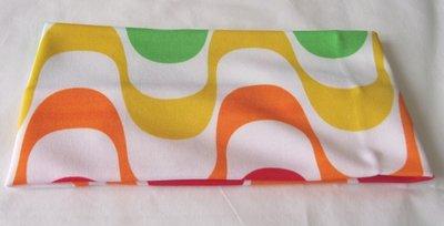 Elastische retro haarband oranje/geel
