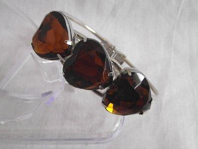 Klemarmband - Bruin