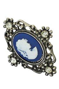 Ring met cameo blauw