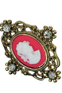 Ring met cameo roze