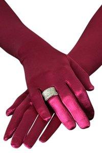 Bruids/gala handschoenen rood