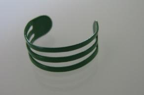 Teenring groen aluminium
