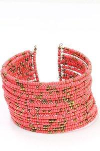 Bohemian style armband - roze