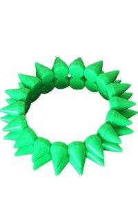 Elastische spike armband - Groen