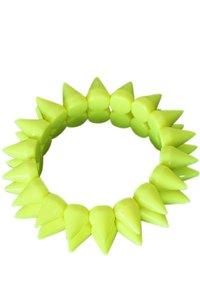 Elastische spike armband - Geel