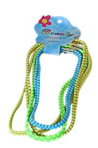 4 elastische haarbanden neon