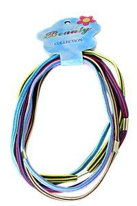 5 elastische haarbanden donker