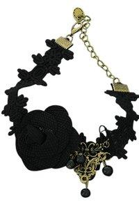 Vintage/gothic enkelbandje zwart (3)