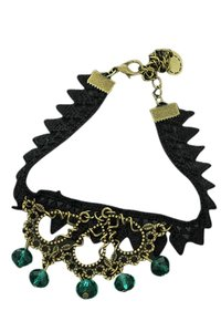 Vintage/gothic enkelbandje zwart (4)