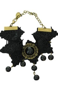 Vintage/gothic enkelbandje zwart (6)