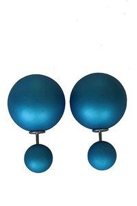 Double dots mat blauw