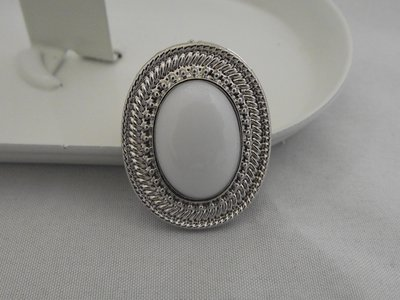 Ring zilver/wit