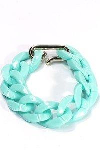 Schakel armband - blauw