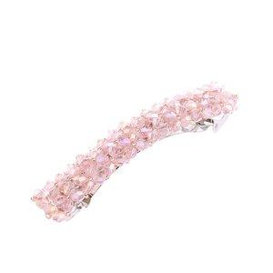 Haarspeld met kleine kristal kralen licht roze