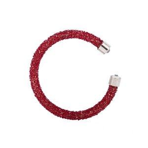 Crystaldust armband - donker rood