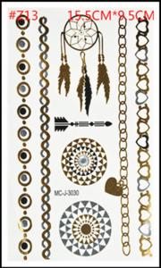 Flash tattoos armbanden/dromenvanger goud/zilver