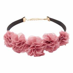"""Choker """"flower""""  roze"""
