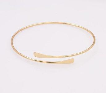 Dunne metalen armband - Goud