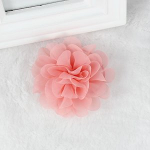 Haarspeldje organza bloem - zalm roze