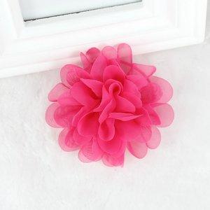 Haarspeldje organza bloem - hard roze