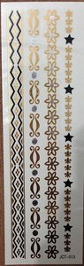 "Flash tattoos armbanden ""star"" goud/zilver/zwart"