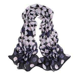 "Dunne sjaal ""dots""  Zwart/wit"