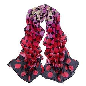 "Dunne sjaal ""dots""  paars/roze"