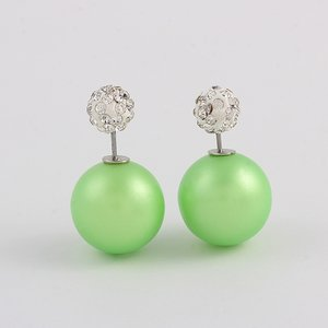 Double dots groen met strass