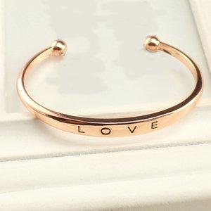 Bangle armband love - Rosegoud