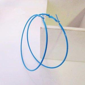 Creolen blauw 6 CM