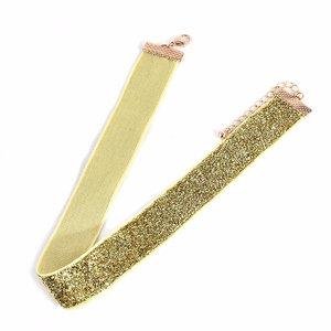 Choker glitter - Goud