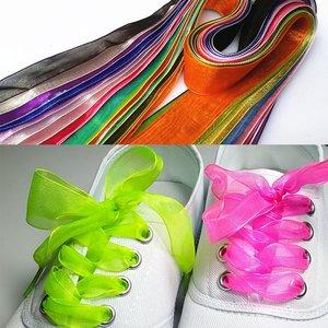 Organza veters  1.20 lang - diverse kleuren