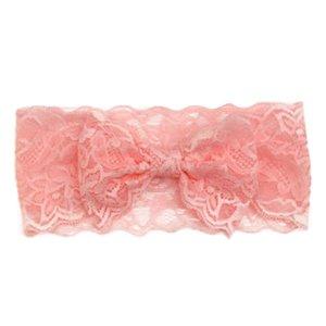 Kanten kinder haarband met strik div. kleuren